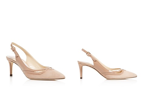 Jimmy Choo Women's Harrison 65 Suede & Patent Leather Slingback Mid Heel Pumps - Bloomingdale's_2